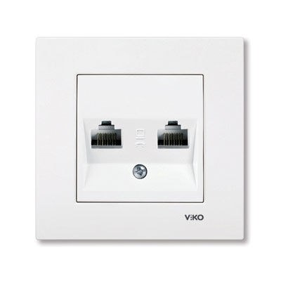 Viko / Karre - Meridian Beyaz İkili Data Cat5E Prizi / 90967034