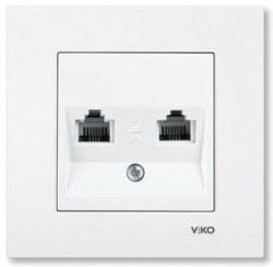 Viko - Viko / Karre - Meridian Beyaz İkili Nümeris Telefon Prizi / 90967033