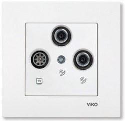 Viko - Viko / Karre - Meridian Beyaz SAT-SAT-TV Sonlu Uydu Prizi / 90967053