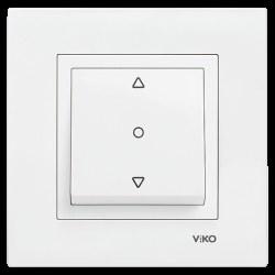 Viko - Viko / Karre - Meridian Beyaz Tek Düğmeli Jaluzi Kumanda Anahtarı / 90967072