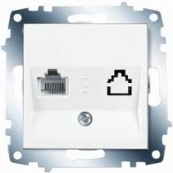 Viko - Viko / Karre - Meridian Beyaz Tekli Nümeris Telefon Prizi / 90967013