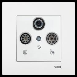 Viko - Viko / Karre - Meridian Beyaz TV-SAT-RAD 13 dB Geçişli Uydu Prizi / 90967052