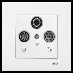 Viko - Viko / Karre - Meridian Beyaz TV-SAT-RAD Sonlu Uydu Prizi / 90967041