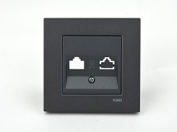 Viko - Viko / Novella Füme Cat6 Jacksız Data Prizi / 92654101