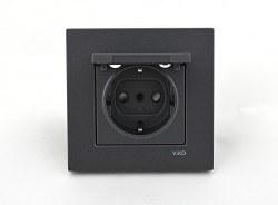 Viko - Viko / Novella Füme Kapaklı Topraklı Priz / 92605412