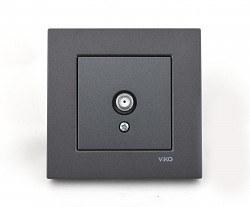 Viko - Viko / Novella Füme Uydu Prizi F Konnektörlü Sonlu / 92605409