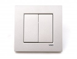 Viko - Viko / Novella Metalik Beyaz Komütatör/ 92605602