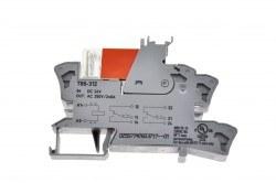Wago - Wago / 15 mm Soket 2x8A 220V AC Röle + Led / 220AC2x8A
