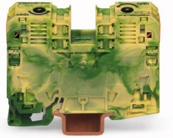 Wago - Wago Tek Giriş - Tek Çıkış Sarı - Yeşil Renk Klemens, 285-137